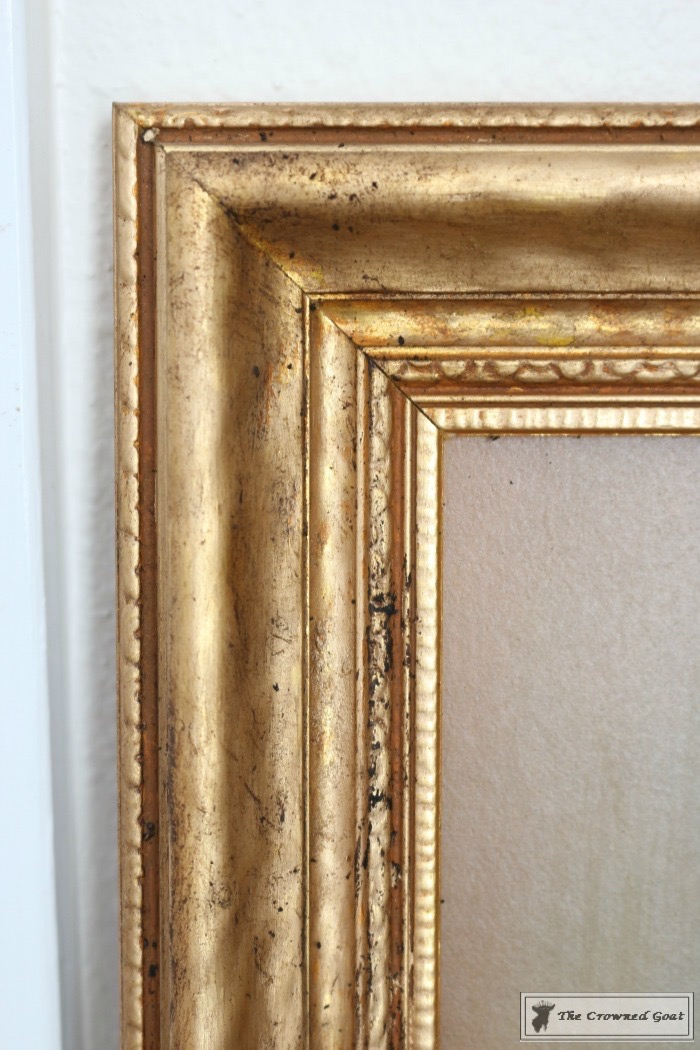 How-to-Antique-a-Gold-Frame-The-Crowned-Goat-8 How to Antique a Gold Picture Frame DIY
