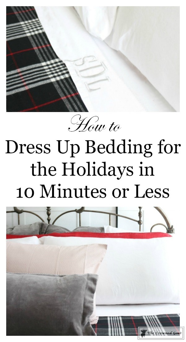 How-to-dress-up-your-bed-for-the-holidays-The-Crowned-Goat-1 How to Dress Up Your Bed for the Holidays Christmas Decorating Holidays