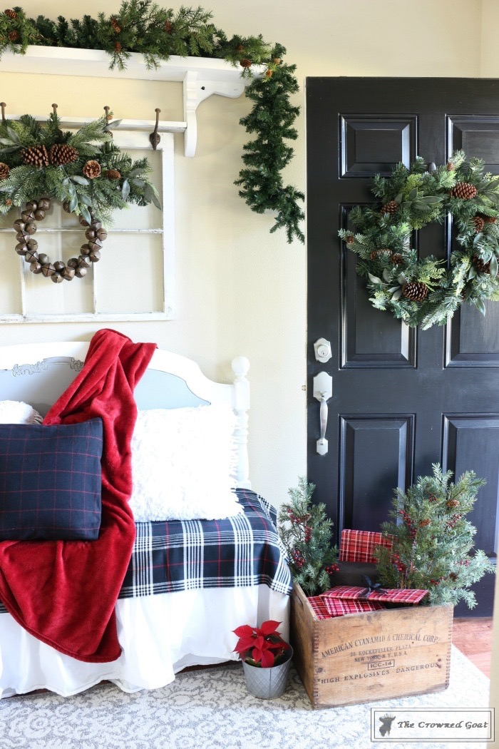 Simple-Tips-for-Christmas-Entry-Decorating-The-Crowned-Goat-9 Mad for Plaid Christmas Entry Christmas
