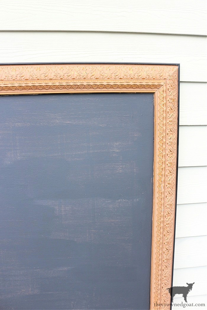 how-to-repurpose-a-picture-into-a-chalkboard-the-crowned-goat-5-1 How to Repurpose a Picture into a Chalkboard Crafts Decorating DIY Organization