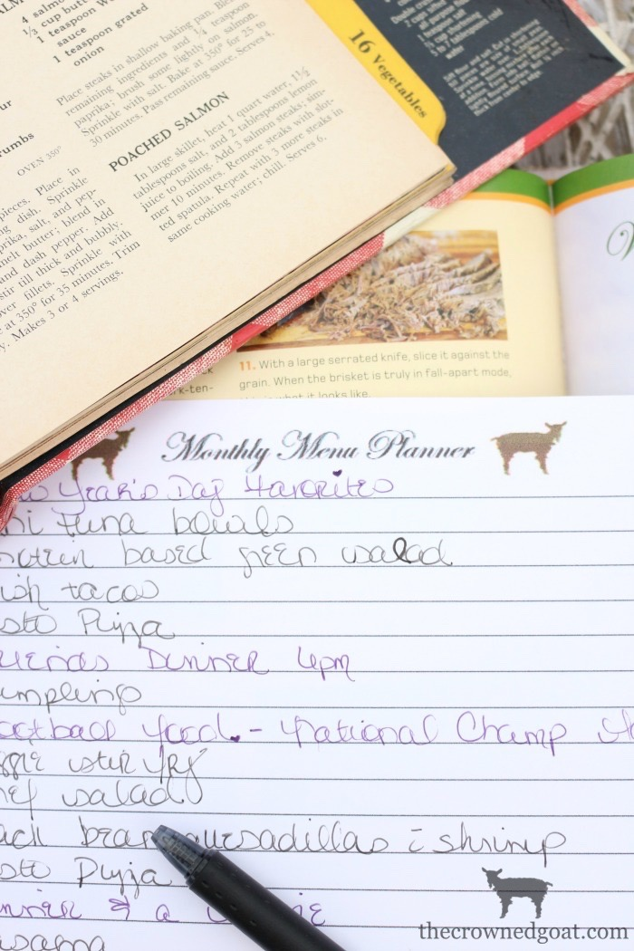 Monthly-Menu-Planning-Made-Easy-The-Crowned-Goat-9 How to Meal Plan by the Month Organization