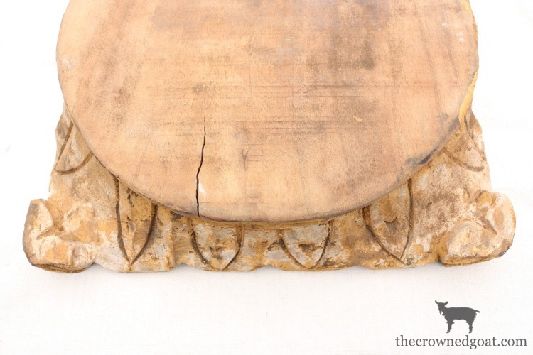 """DIY-Antique-Wooden-Pedestal-The-Crowned-Goat-1-1 """"Antique"""" Wood Pedestal Makeover DIY"""