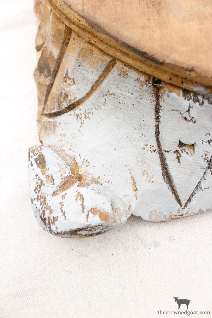 """DIY-Antique-Wooden-Pedestal-The-Crowned-Goat-11-1 """"Antique"""" Wood Pedestal Makeover DIY"""