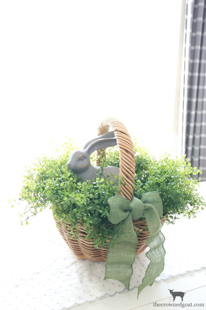 How-to-Make-a-Simple-Easter-Basket-Centerpiece-The-Crowned-Goat-14 Easter Basket Centerpiece Spring