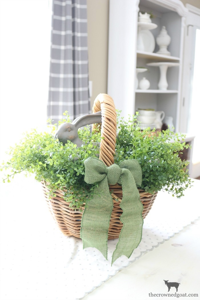 How-to-Make-a-Simple-Easter-Basket-Centerpiece-The-Crowned-Goat-18 Easter Basket Centerpiece Spring