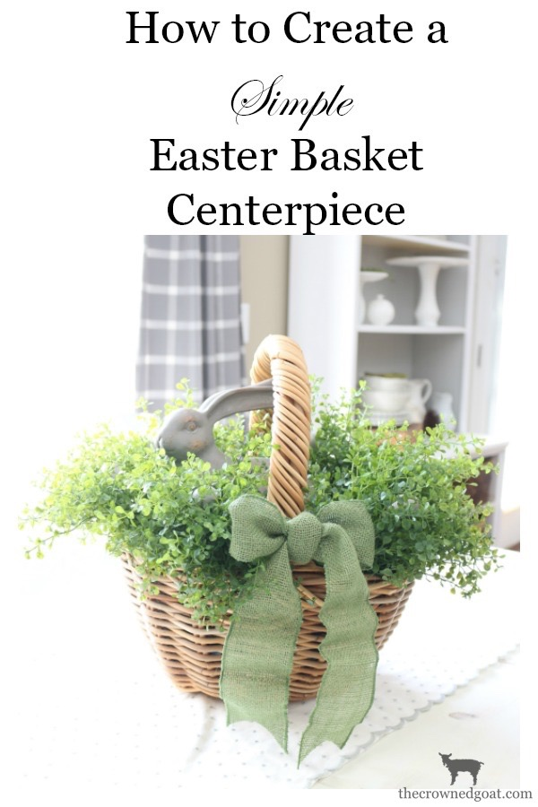 How-to-Make-a-Simple-Easter-Basket-Centerpiece-The-Crowned-Goat-3 Easter Basket Centerpiece Spring