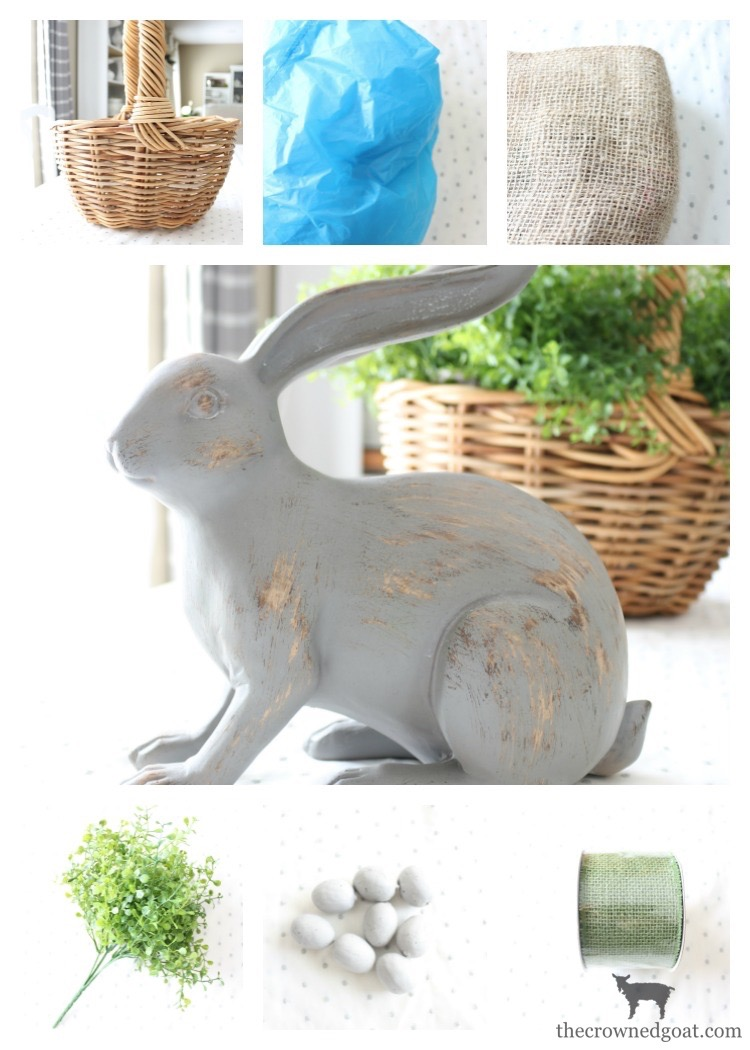 How-to-Make-a-Simple-Easter-Basket-Centerpiece-The-Crowned-Goat-4 Easter Basket Centerpiece Spring