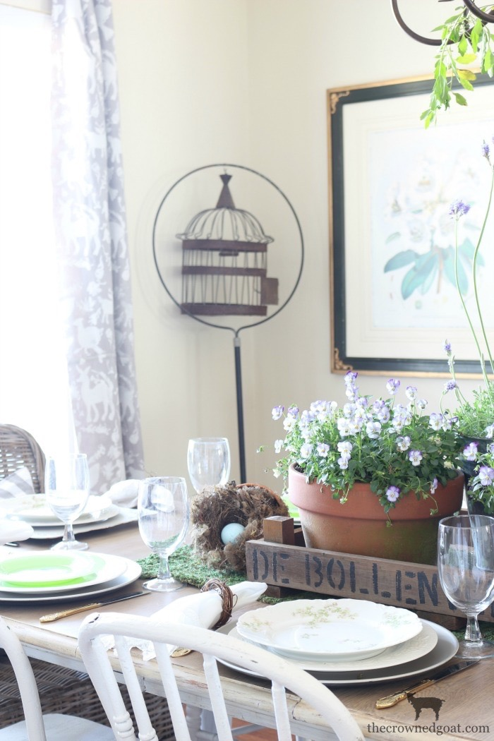 Spring-Inspired-Dining-Room-Tablescape-The-Crowned-Goat-7-1 From the Front Porch From the Front Porch