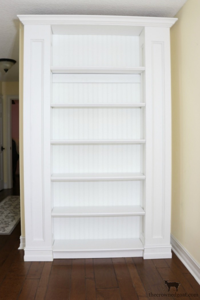 Custom-Built-Bookcase-The-Crowned-Goat-4 DIY Custom Bookcases from Columns Loblolly_Manor