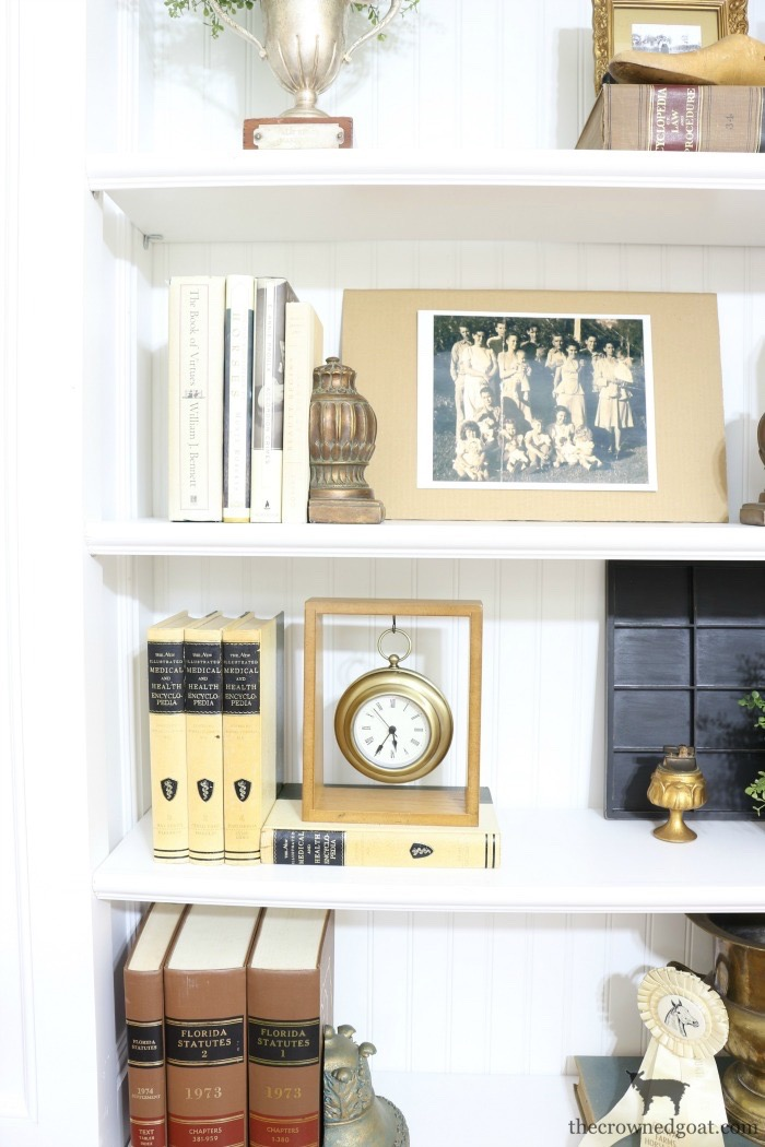 Custom-Built-Bookcase-The-Crowned-Goat-9 DIY Custom Bookcases from Columns Loblolly_Manor