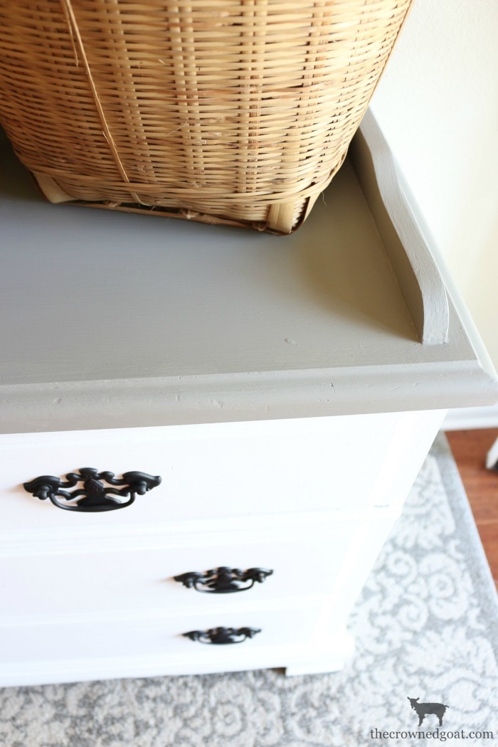 French-Linen-Buffet-Makeover-The-Crowned-Goat-8 Laundry Room Buffet Makeover One_Room_Challenge