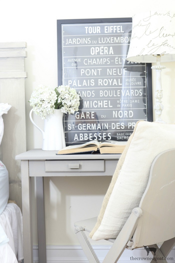 French-Linen-Desk-Makeover-The-Crowned-Goat-8 French Linen Desk Makeover Painted Furniture