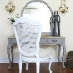 French-Linen-Vanity-Makeover-The-Crowned-Goat-10 Painted Furniture
