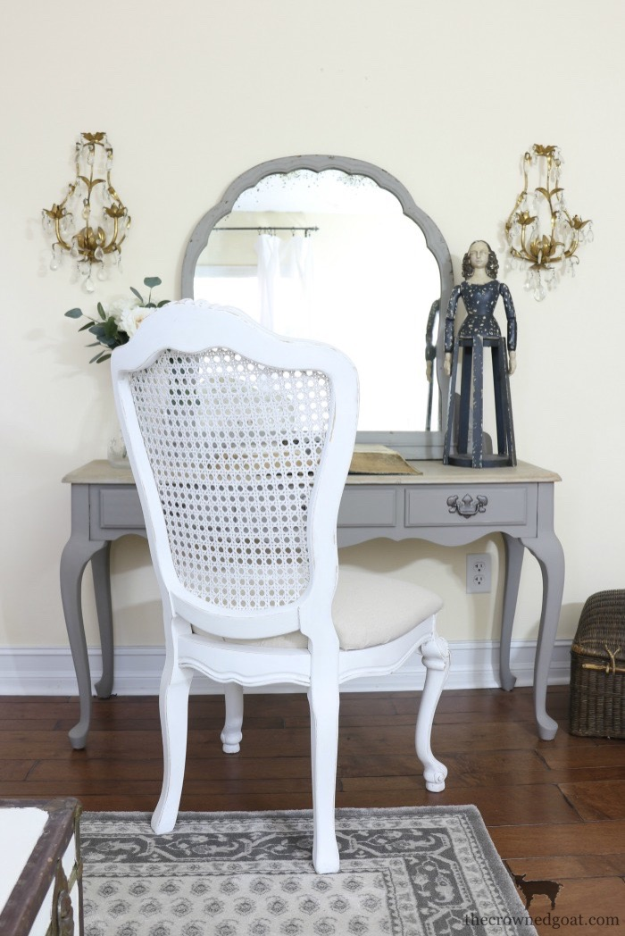 French-Linen-Vanity-Makeover-The-Crowned-Goat-10 French Linen Vanity Makeover Loblolly_Manor Painted Furniture
