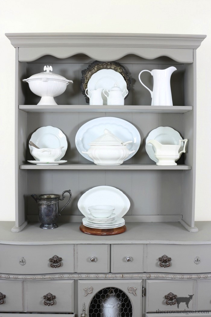 Tips-for-Styling-a-Dining-Room-Hutch-The-Crowned-Goat-14 Eight Easy Tips for Styling a Dining Room Hutch Decorating Loblolly_Manor