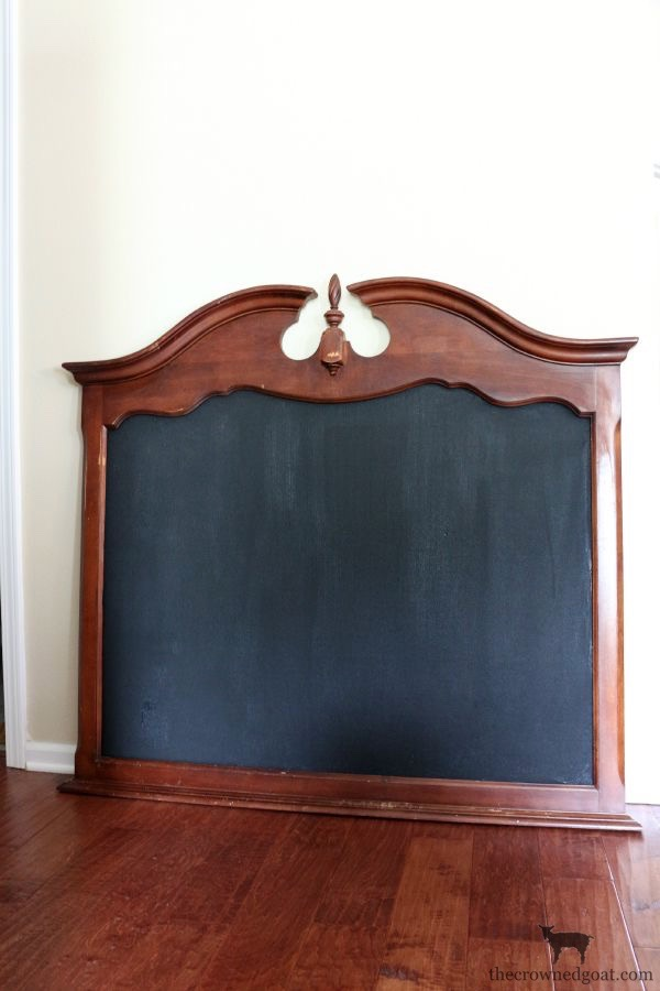 Creating-a-Chalkboard-From-a-Mirror-The-Crowned-Goat-1 Creating a Chalkboard from a Mirror Decorating Loblolly_Manor