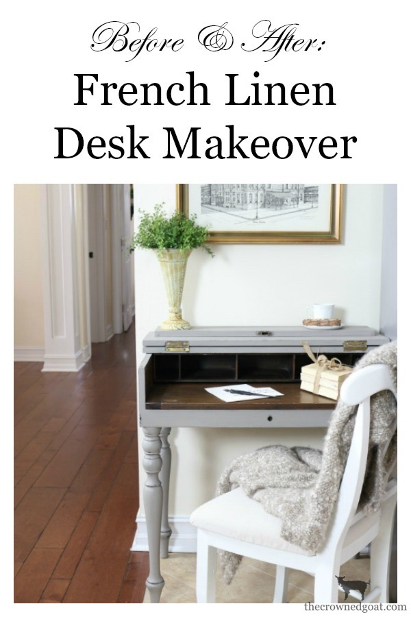 French-Linen-Kitchen-Desk-Makeover-The-Crowned-Goat-13 Loblolly Manor: Adding a Desk to the Kitchen Loblolly_Manor Painted Furniture