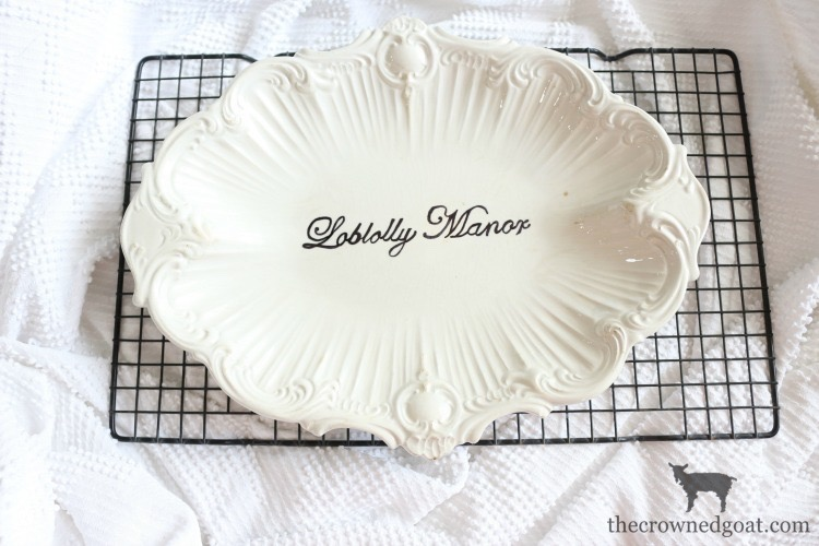 Personalize-Vintage-Plate-With-Sharpie-The-Crowned-Goat-14 Easily Personalize a Vintage Platter DIY Loblolly_Manor