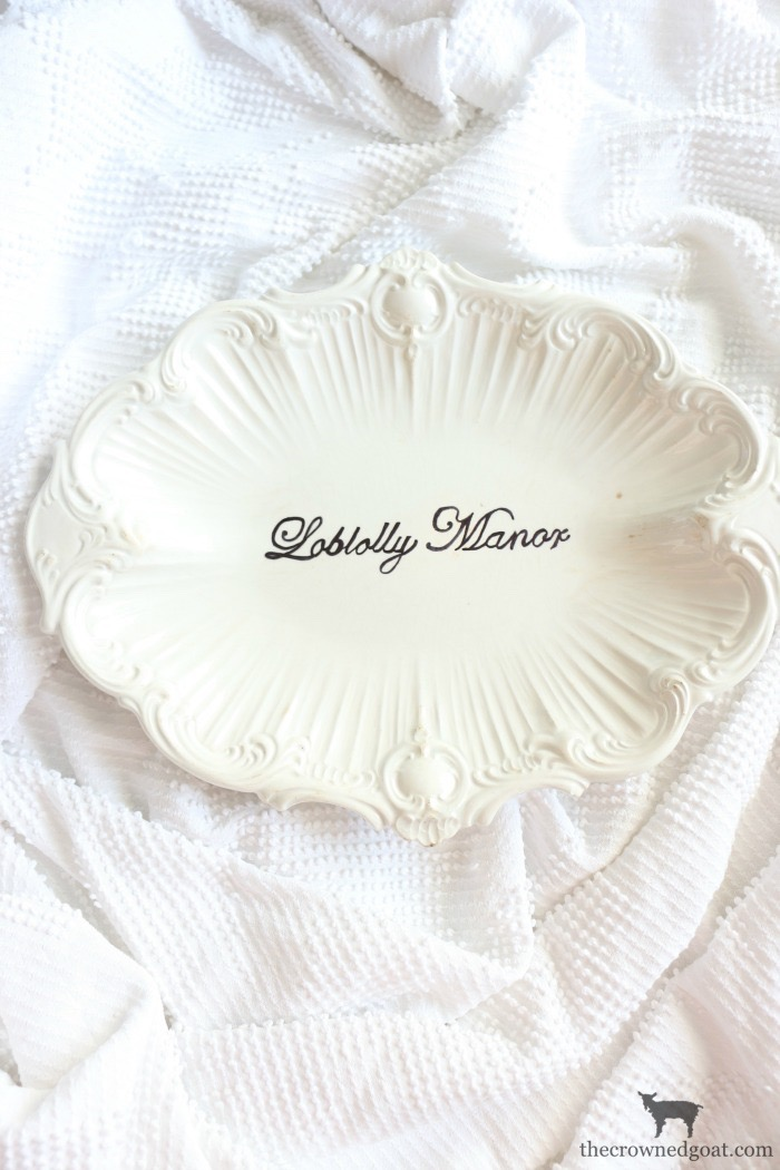 Personalize-Vintage-Plate-With-Sharpie-The-Crowned-Goat-15 Easily Personalize a Vintage Platter DIY Loblolly_Manor