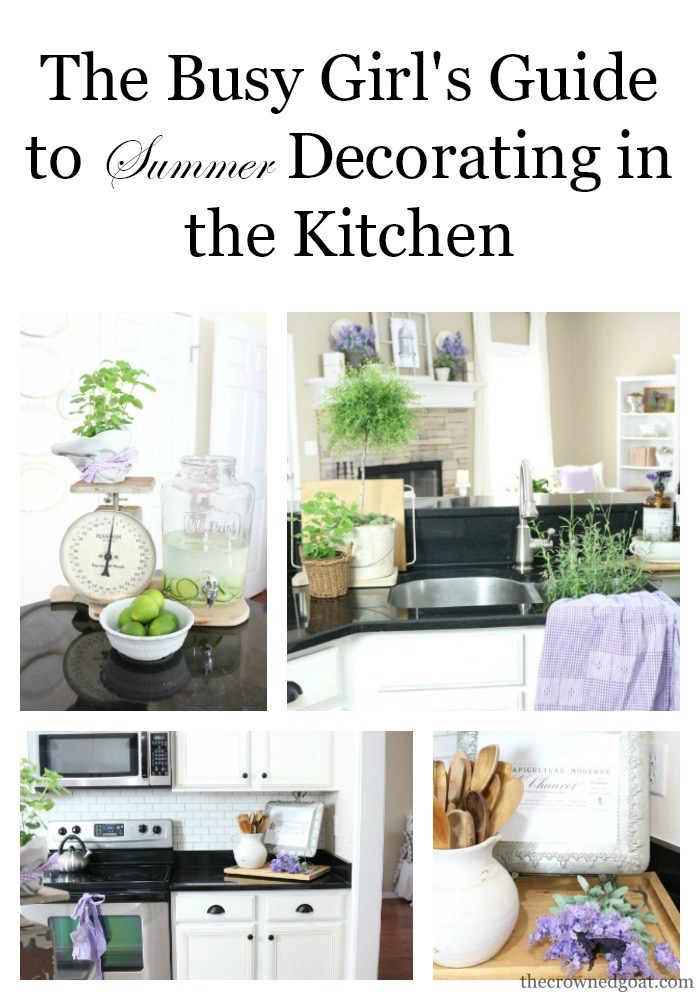 Summer-Kitchen-Decorating-Ideas-The-Crowned-Goat-2 The Busy Girl's Guide to Summer Decorating: The Kitchen Decorating Summer