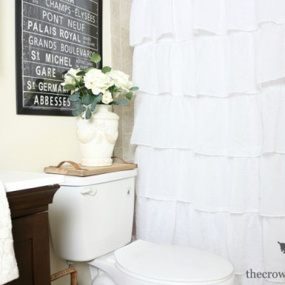 Loblolly Manor: Tiny Guest Bathroom Makeover