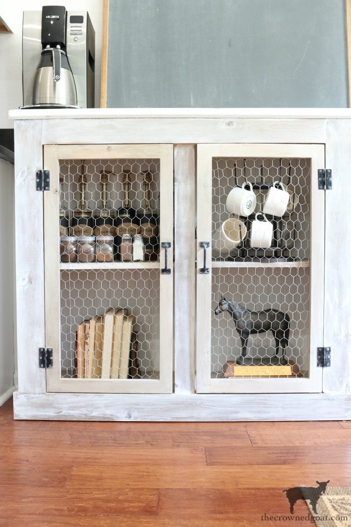 how-to-create-a-farmhouse-style-coffee-bar-The-Crowned-Goat-14 A Simple & Efficient Drink Zone in 3 Easy Steps DIY Organization