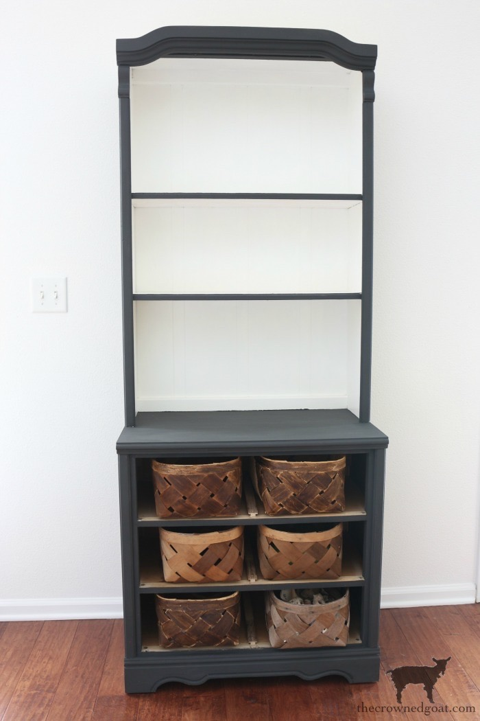 Annie-Sloan-Graphite-Hutch-Makeover-The-Crowned-Goat-5-1 French Linen Hutch Makeover DIY Painted Furniture