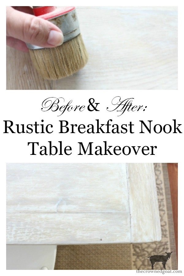 Breakfast-Nook-Table-Makeover-The-Crowned-Goat-20 Breakfast Nook Table Makeover DIY Painted Furniture