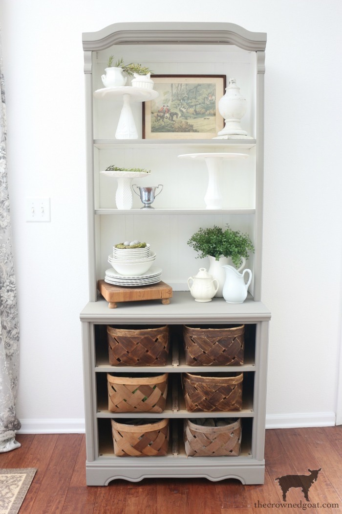 French-Linen-Hutch-Makeover-The-Crowned-Goat-11 French Linen Hutch Makeover DIY Painted Furniture