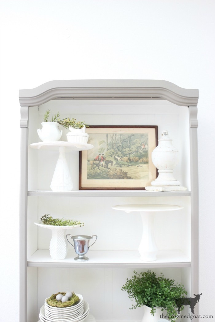 French-Linen-Hutch-Makeover-The-Crowned-Goat-12 French Linen Hutch Makeover DIY Painted Furniture