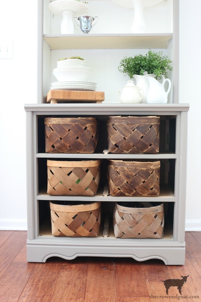 French-Linen-Hutch-Makeover-The-Crowned-Goat-17 French Linen Hutch Makeover DIY Painted Furniture