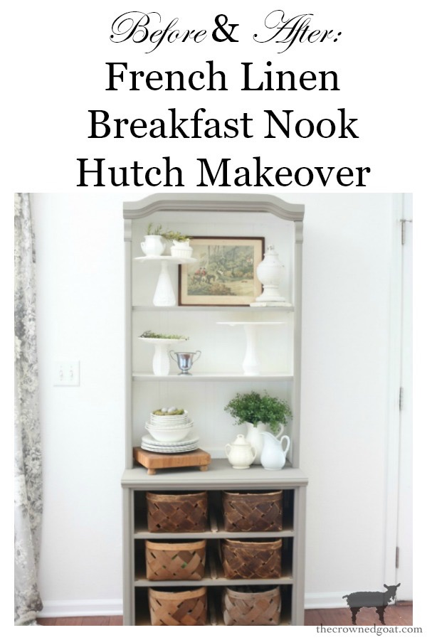 French-Linen-Hutch-Makeover-The-Crowned-Goat-21 French Linen Hutch Makeover DIY Painted Furniture