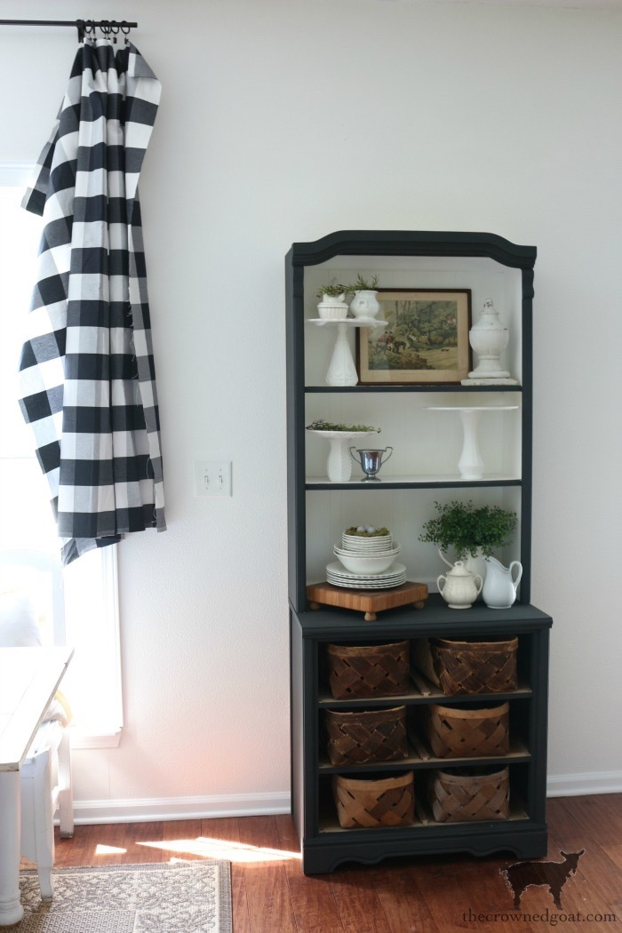 French-Linen-Hutch-Makeover-The-Crowned-Goat-7 French Linen Hutch Makeover DIY Painted Furniture