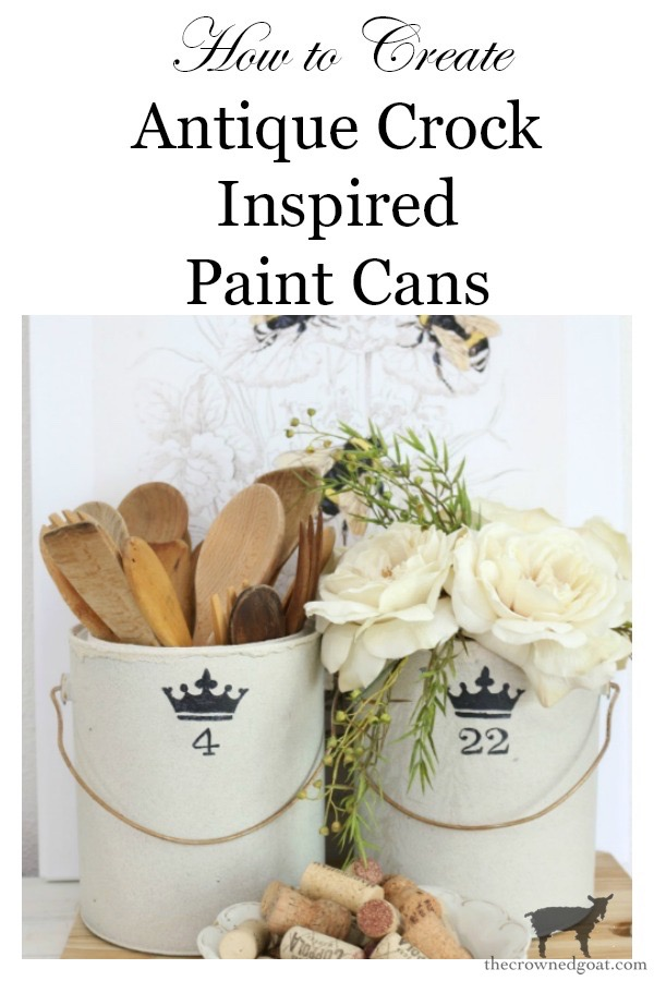 Crock-Inspired-Paint-Cans-The-Crowned-Goat-19 How to Create Crock Inspired Paint Cans Decorating DIY