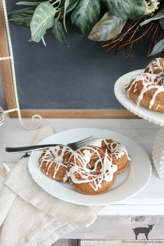 Easy-Spice-Cake-Donuts-The-Crowned-Goat-13 Spice Cake Donuts with Cream Cheese Frosting Baking Fall