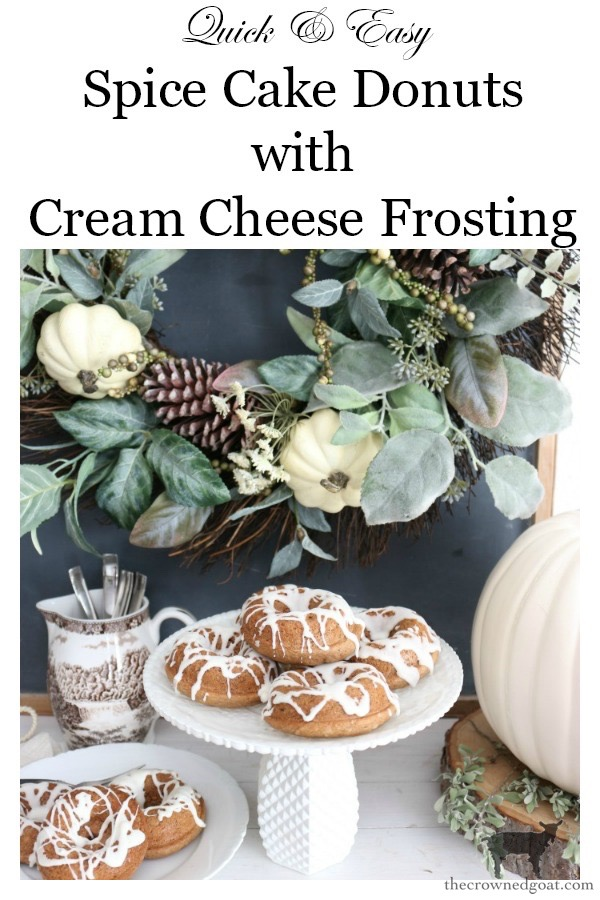 Easy-Spice-Cake-Donuts-The-Crowned-Goat-15 Spice Cake Donuts with Cream Cheese Frosting Baking Fall