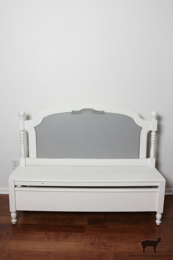 French-Farmhouse-Bench-Makeover-The-Crowned-Goat-1 French Farmhouse Inspired Bench Decorating DIY Painted Furniture