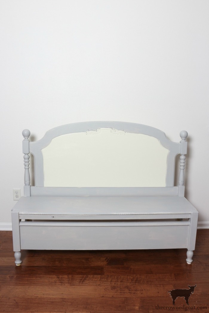 French-Farmhouse-Bench-Makeover-The-Crowned-Goat-3 French Farmhouse Inspired Bench Decorating DIY Painted Furniture