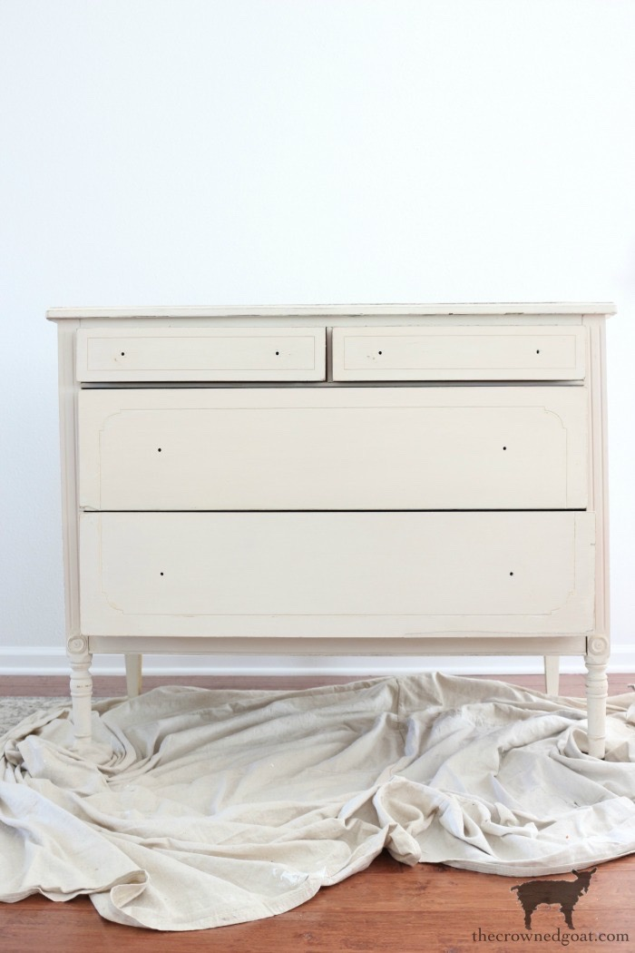 Marzipan-Milk-Paint-Dresser-The-Crowned-Goat-12 Miss Mustard Seed Milk Paint Dresser in Marzipan DIY Painted Furniture