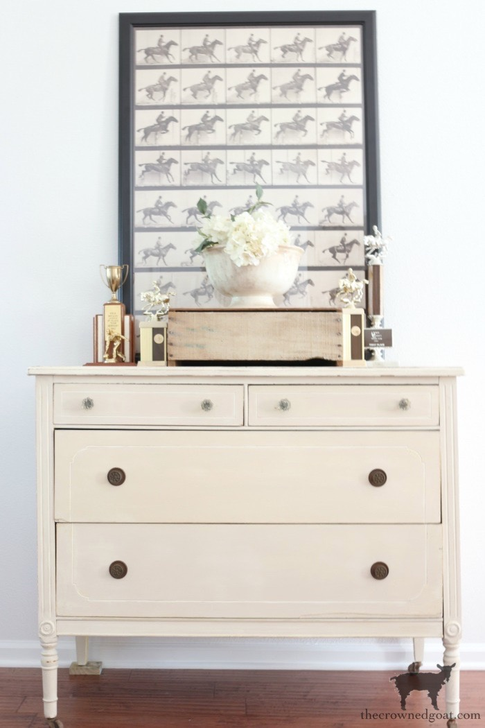 Marzipan-Milk-Paint-Dresser-The-Crowned-Goat-21 Miss Mustard Seed Milk Paint Dresser in Marzipan DIY Painted Furniture