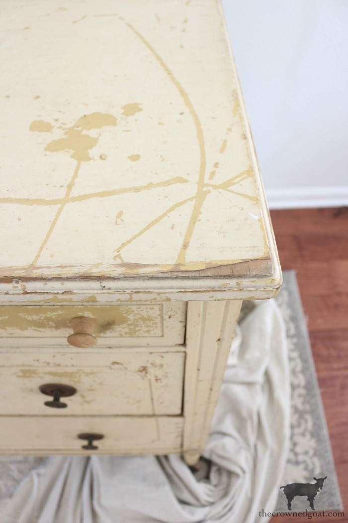 Marzipan-Milk-Paint-Dresser-The-Crowned-Goat-3 Miss Mustard Seed Milk Paint Dresser in Marzipan DIY Painted Furniture