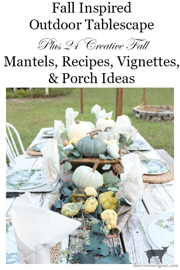 Fall-Inspired-Outdoor-Tablescape-The-Crowned-Goat-15 Fall Inspired Outdoor Tablescape Decorating DIY Fall