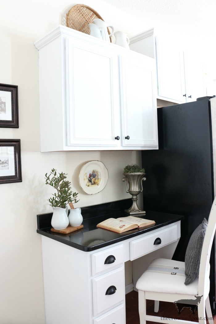Farmhouse-Kitchen-Makeover-Reveal-10 Kitchen Desk Makeover Reveal Decorating DIY One_Room_Challenge