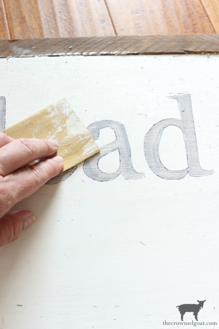 How-to-Make-a-Sign-The-Crowned-Goat-12 The Easiest Way to Make a Sign Decorating DIY