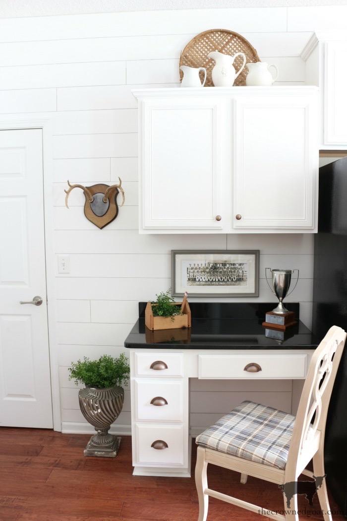 Kitchen-Desk-Makeover-Reveal-The-Crowned-Goat-16 Kitchen Desk Makeover Reveal Decorating DIY One_Room_Challenge