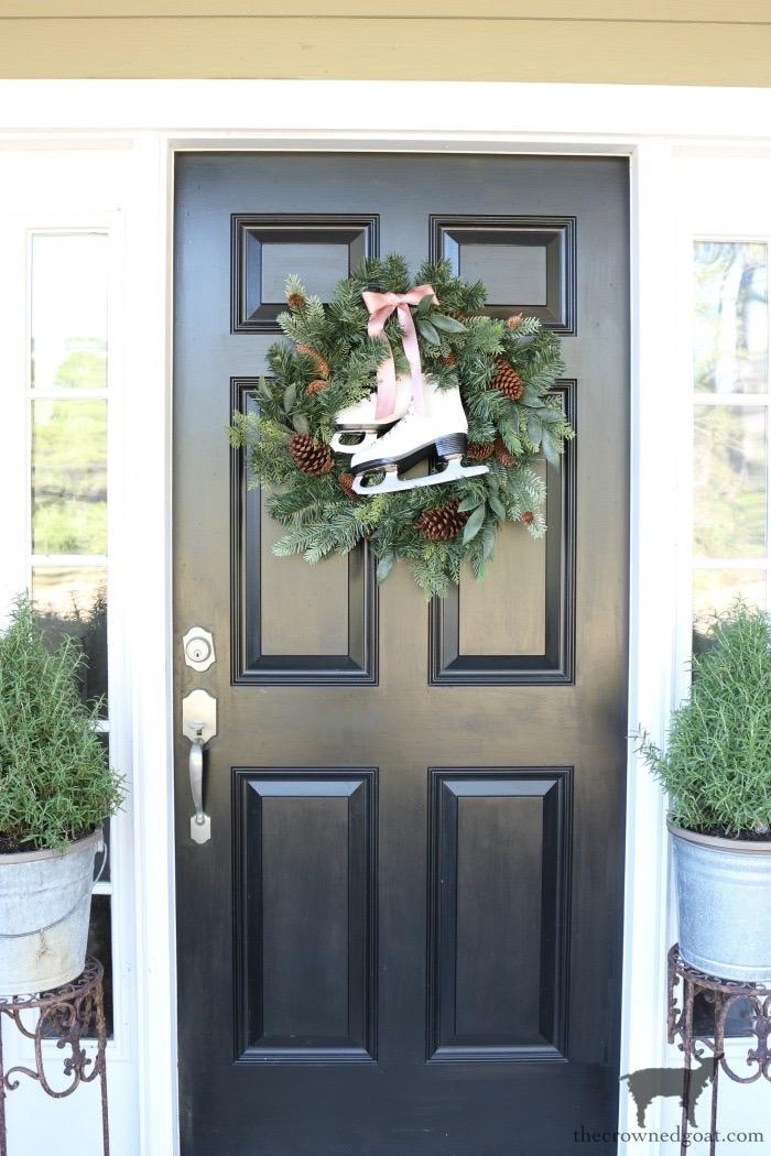 DIY-Ice-Skate-Wreath-The-Crowned-Goat-1 DIY Ice Skate Wreath Christmas Holidays