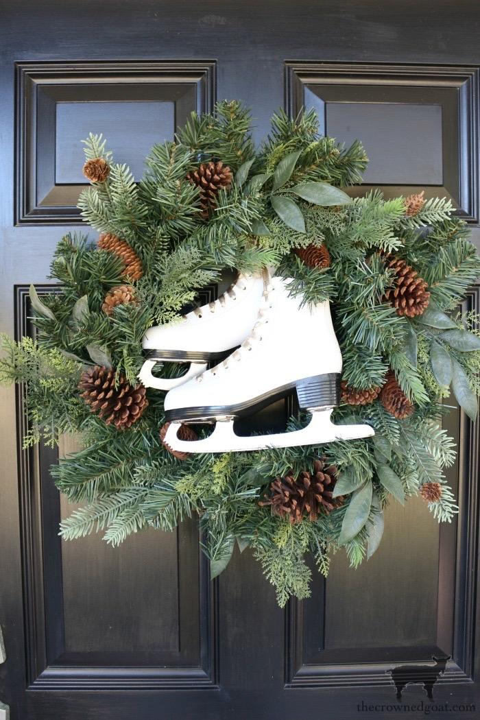 DIY-Ice-Skate-Wreath-The-Crowned-Goat-6 DIY Ice Skate Wreath Christmas Holidays
