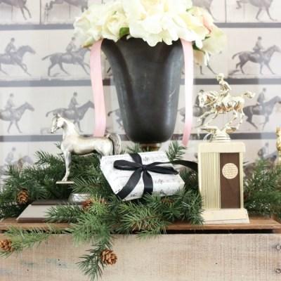 Easy Vintage Dresser Gift Wrap Station