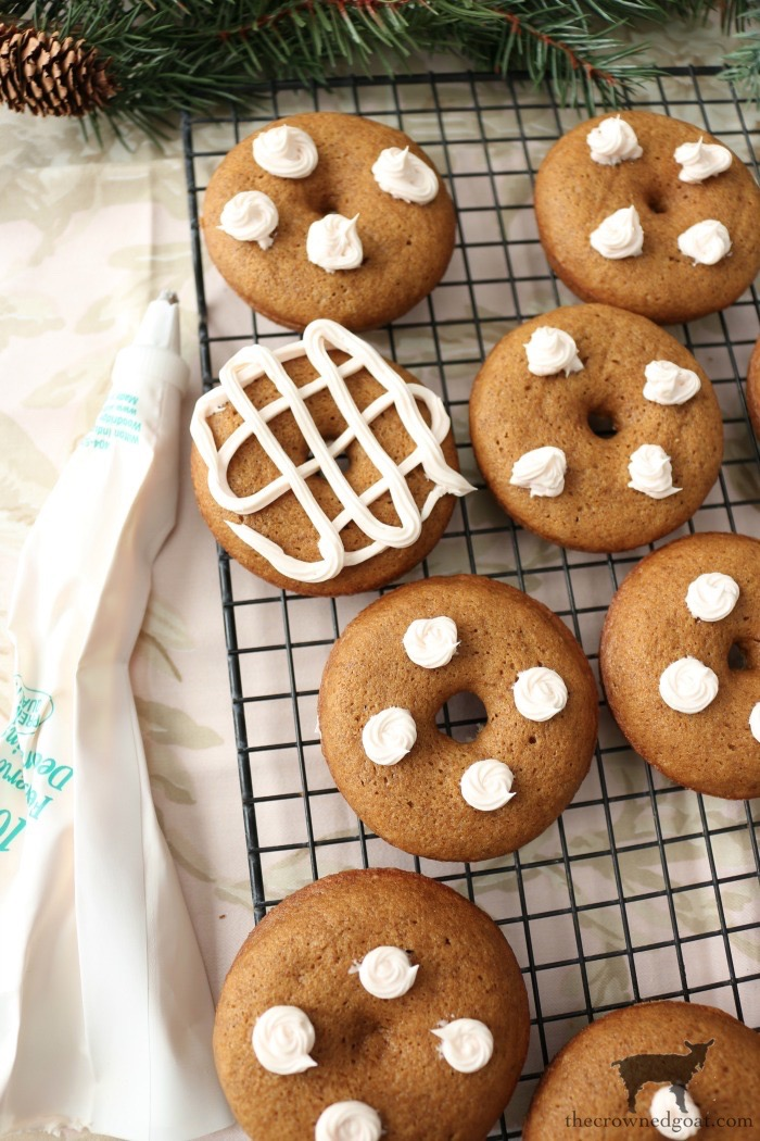 Quick-Easy-Gingerbread-Donuts-The-Crowned-Goat-10 Quick & Easy Gingerbread Cake Donuts Baking Christmas Holidays