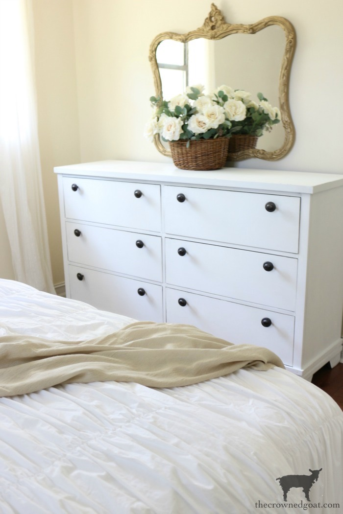 Annie-Sloan-Chalk-Paint-Pure-White-Dresser-Makeover-The-Crowned-Goat-10 Loblolly Manor: Pure White Dresser Makeover Loblolly_Manor Painted Furniture
